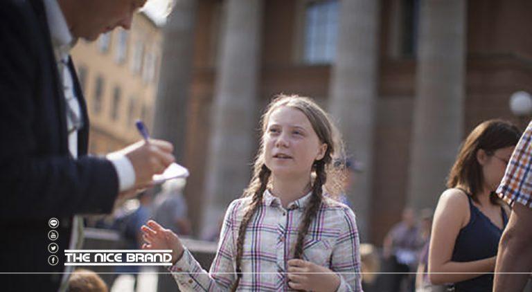 """""""เกรต้า ธันเบิร์ก"""" นักเคลื่อนไหวด้านสิ่งแวดล้อม เรียกร้องสังคมดูแลเด็ก"""